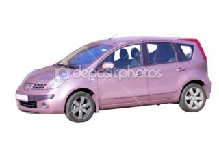 Lilac Japanese Car, Isolated  Stock Photo © Vadim Zholobov #1373744