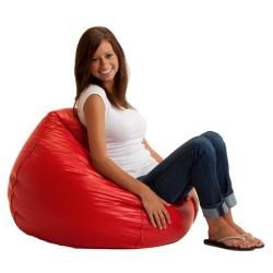 BeanSack Ultra Red Vinyl Lounge Bean Bag Chair