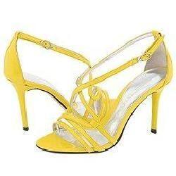 Jessica Bennett Heart Yellow Patent Pumps/Heels