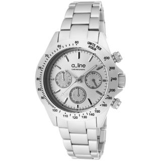 line Womens Amore Silvertone Aluminum Watch