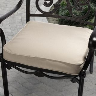 Clara 19 inch Outdoor Beige Cushion with Sunbrella Fabric