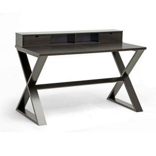 Baxton Studio Fargo Dark Brown Modern Writing Desk Today $333.99