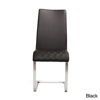 Jemma Brushed Frame and Leatherette Side Chair