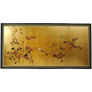 Silk and Wood 24 inch Cherry Blossom Wall Hanging (China) Today $161