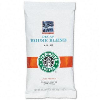 Starbucks Decaf House Blend 2.5 oz. Ground Coffee Packets (Case of 18