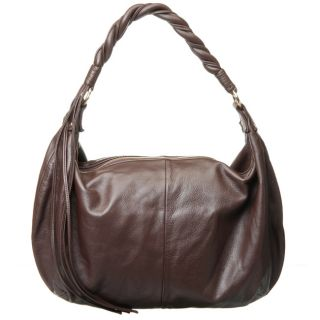 Zina Eva Lydia Italian Leather Chocolate Hobo Bag