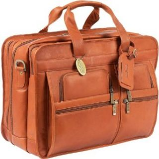 ClaireChase Jumbo Executive Laptop Briefcase (Saddle