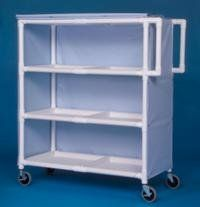 IPU LC243 Jumbo Linen Cart   Three Shelves