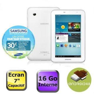 Samsung Galaxy Tab 2 7 Wifi 16 Go Blanc   Achat / Vente TABLETTE