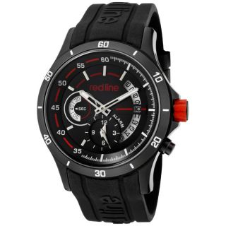 Red Line Mens Tech Black Silicone Watch