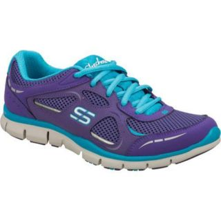 Womens Skechers Gratis Threshold Purple/Blue