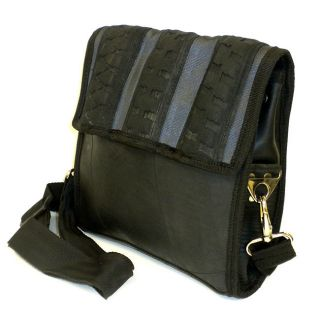 Recycled Urban Tire and Tube Black Messenger Bag (India) Today $44.99