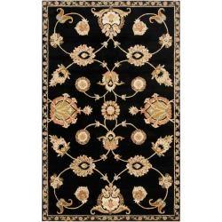 Hand tufted Black Ambulo Wool Rug (33 x 53)