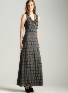 Max Studio Tiered Jersey Maxi Dress