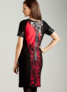 Taylor Short Sleeve Splatter Dress