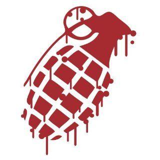 Grenade DARK RED Drip Splatter Snowboard Vinyl Decal