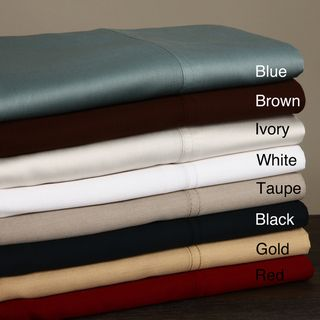 410 Thread Count Solid Sateen Sheet Set, 100 percent Egyptian Cotton