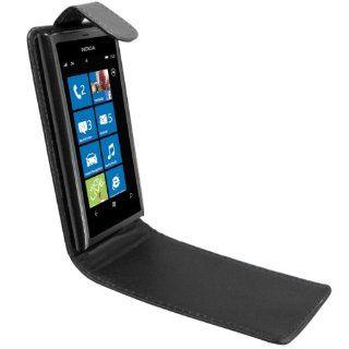 mumbi PREMIUM ECHT Leder Flip Case Nokia Lumia 800 Tasche Hülle
