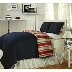 Canon Red 3 piece Quilt Set