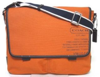 Heritage Web Canvas Laptop Messenger Bag 70587 Burnt Orange Shoes