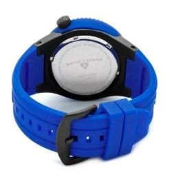 Swiss Legend Mens Neptune Blue Silicone Watch