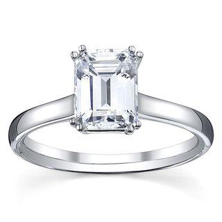 14k White Gold 1/2ct TDW Diamond Solitaire Engagement Ring (G, VS1 VS2