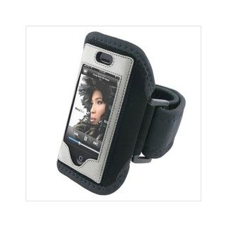 Padded Deluxe ArmBand for Apple iPhone with Velcro Strap   Black