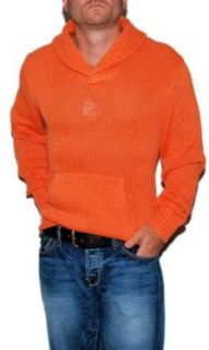 Polo Ralph Lauren Mens Shawl Sweater Sweatshirt Orange