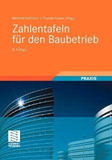 Zahlentafeln für den Baubetrieb Manfred Hoffmann, Thomas