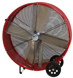 MaxxAir BF30DD 30 Inch Direct Drive Commercial Fan, Red