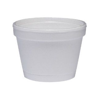 4 Oz Insulated Foam Food Container 50 / Bag in White Home