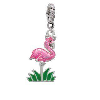 Hot Pink Flamingo Charm Bead Hanger [Jewelry] Delight