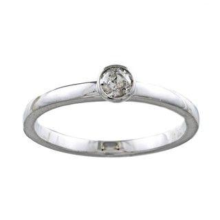 10k White Gold 1/5ct TDW Diamond Ring (H I, I1 I2)