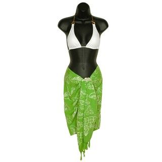 Butterfly Lime Green Half Sarong (Indonesia)