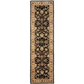Handmade Heritage Kerman Black/ Gold Wool Runner (23 x 20