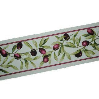 Webband mit Oliven Motiv zum Aufnähen Bänder Bordüre Band Olive