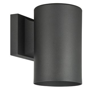 light Black Round Aluminum Wall Sconce