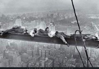 Empire 208637 New York   Manhattan   Bauarbeiter Stahlträger   Poster