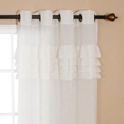 Best Home Fashion Pleated Faux Linen 84 inch Grommet Top Curtain Pair