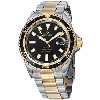 Kadloo Mens Ocean Date Stainless Steel Two Tone Automatic Watch