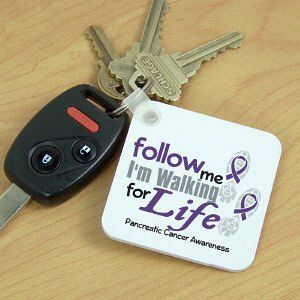 Walk for Life Pancreatic Cancer Awareness Key Chain