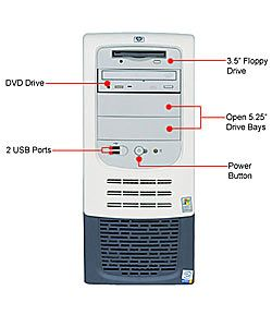 HP Vectra VL 420 2.0GHz Pentium 4 System with DVD