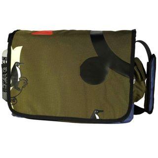 Penguin & Rooster Recycled PETE Olive Messenger Bag