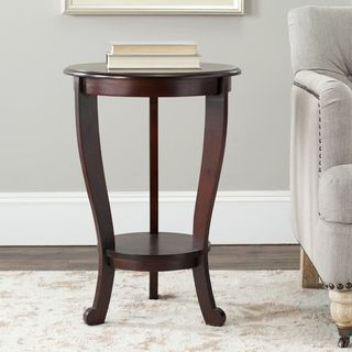 Cape Cod Dark Cherry Pedestal Side Table