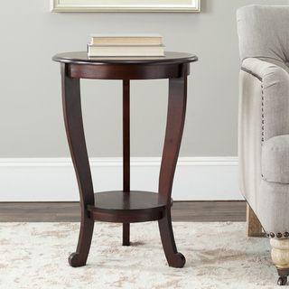 Cape Cod Dark Cherry Pedestal Side Table