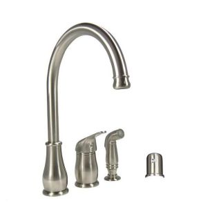 Brushed Nickel Single handle Kitchen Faucet with Side Spray and Air