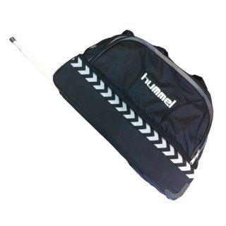 Hummel Uni Sporttasche Team Trolley Bag, black / dark shadow, 75x46x35