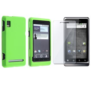 Neon Green Case/ Screen Protector for Motorola Droid A955