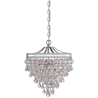 Crystorama Chloe Polished Chrome 3 light Pendant