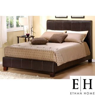 ETHAN HOME Castillian Full Sized Dark Brown Upholstered Bed